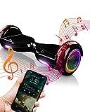 ACBK Bluetooth UL2272 Hoverboard, Juventud Unisex, Negro, Rueda LED 6.5'