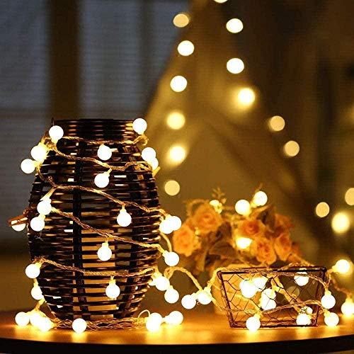 XDHN Lamp LED Holiday Fairy Garland Ball String Lights Globo Matrimonio Decorazione Domestica Batteria Corda Luci Bianco Caldo 3M 30 LED 1126
