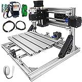 VEVOR Máquina de Grabado CNC 2418 DIY, de Perfiles de Aluminio 2020, Enrutador CNC Equipada con 3 Ejes, Recorrido de Trabajo Efectivo: 9,4'x7,1'x1,6', Máquina CNC Láser, con Grabador Láser de 5500 mw