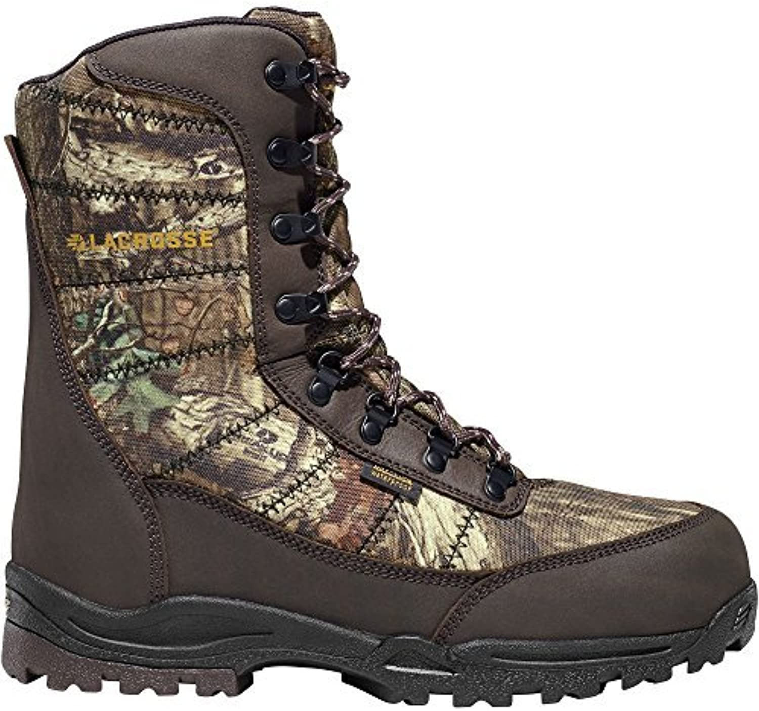 LACROSSE Silencer 8  Height Mossy Oak Break-Up Infinity 800G (541017)  Waterproof   Insulated Modern Comfortable Hunting Combat Boot Brown