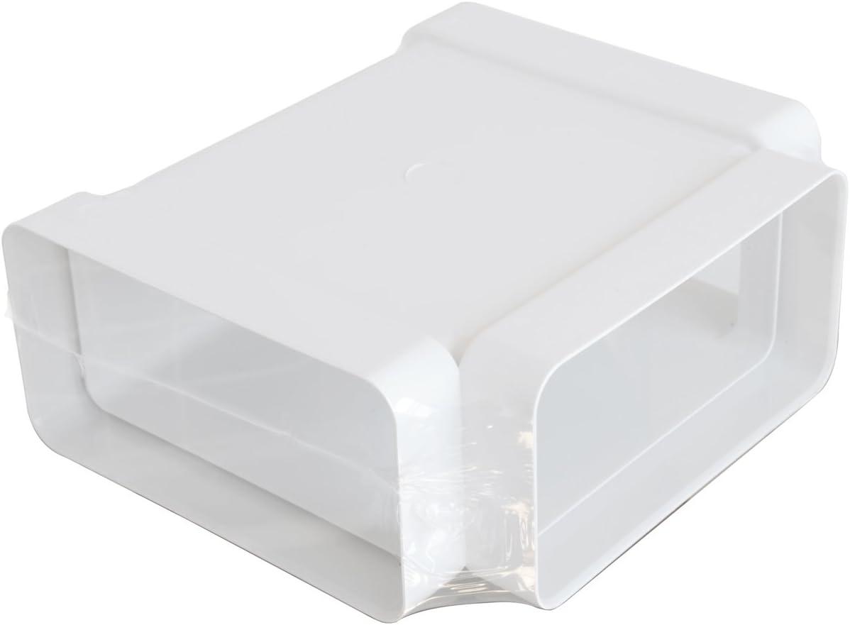 La ventilation crc96b C/ône de r/éduction M//F ABS pour tuyau pas bicchierato 96.75//113.5//123//128/mm blanc