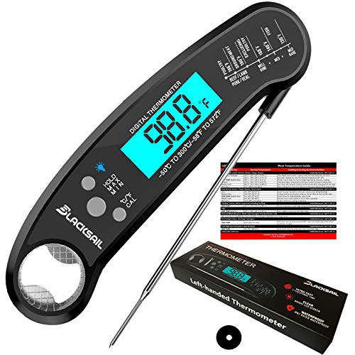 Blacksail Instant Read Digital Meat Food Thermometer with Backlight for Cooking Kitchen