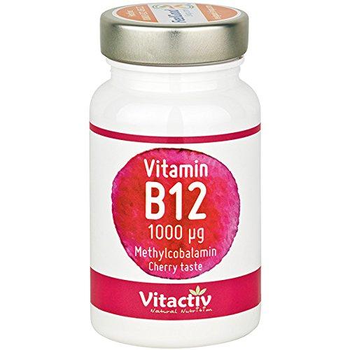 VITAMIN B12 hochdosiert, 1.000 µg, für Energie, Nerven, Immunsystem, gegen Müdigkeit und Erschöpfung etc.*, für Menschen 50+, Vegetarier & Veganer, 100 Kautabletten für bis zu 100 Tage