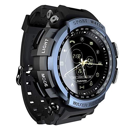 SVUZU Reloj Inteligente para Deportes al Aire Libre Reloj de Pulsera Impermeable Militar multifunción para Hombres con calorías Contador de Pasos Cronómetro Notificación por SMS Running