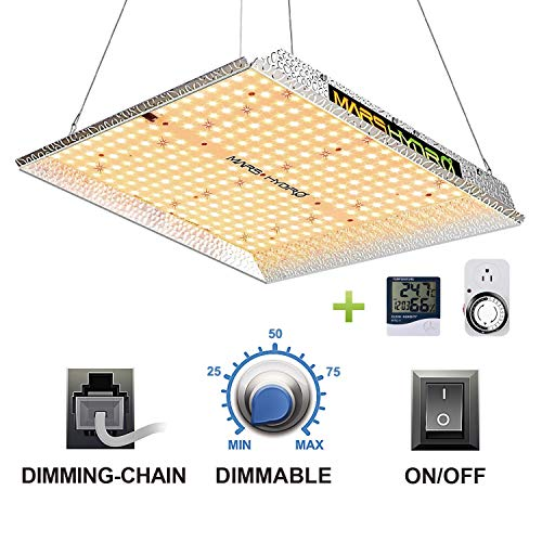 MARS HYDRO TS 1000W Led Grow Light 3x3ft Sunlike Full Spectrum IR Grow Lamps for Indoor Plant...