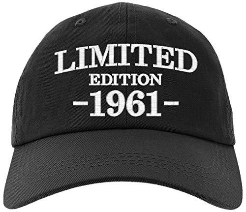 Cap 1961-60th Birthday Gifts, Limited Edition All Original Parts Baseball Hat 1961-EM-0003-Black