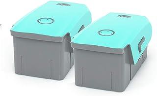 Wrapgrade Skin kompatibel med Mavic Air 2 | 2 batterier (MINT BLUE)