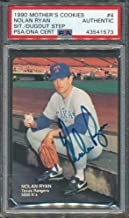 1990 Mother's Cookies #4 Nolan Ryan PSA/DNA Certified Authentic Autographed Signed 1573