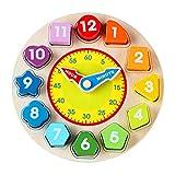 MEILUAIMU Reloj de clasificación para niños, Rompecabezas de enseñanza de Tiempo, Bloques de números de Colores apilables, Juguete Educativo de Aprendizaje temprano