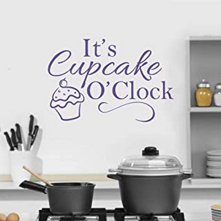 Wall Stickers, Wall Decals, Wall Tattoos, Wall Posters, Wallpaper,Cupcake Quote Window Kitchen Lettering Art Cake Shop Decor Removable Bakery Sign Vinyl 42x28CM
