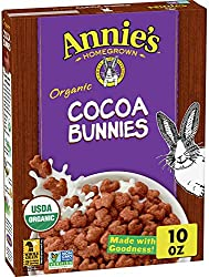 Annie's Organic Cereal, Cocoa Bunnies, Oat, Corn, Rice Cereal, 10 oz