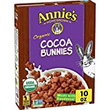 Annie's Organic Cereal, Cocoa Bunnies, Oat, Corn, Rice Cereal, 10oz Box