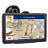 GXXDM Navegación por satélite (5 Pulgadas), con mapas de la UE 2021 (Gratis), navegación GPS para autocaravanas, Camiones, Camiones, vehículos Pesados, LGV, código Postal, alertas de cám