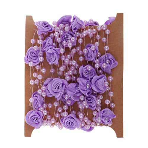 B Baosity 5m Lila Perlenband Perlenkette Perlengirlande Dekoschnur Tischdeko Hochzeit Party Basteln DIY Handwerk Hochzeit Deko