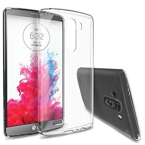 LG G3 Case - Ringke SLIM Case [Free HD Film-Better Grip][CRYSTAL] Full Top and Bottom Coverage Premium Dual Coated Hard Case for LG G3 - Eco Package