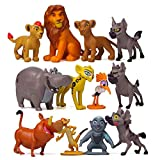 The Lion King Action Figures, 12 Pcs Lion Collectible Playset Classic Characters Figure Toy Cake Toppers Cupcake Decorations Party Favor