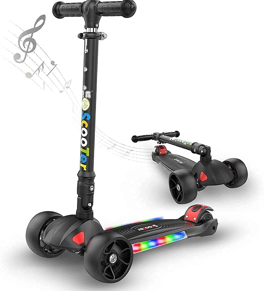 ZHZHUANG Freestyle Scooter, Chica con Cuatro Ruedas Baby Scooter 3 Ronda Boy Drift Scooter Miniatura Pliegue Masculino Chica Juguete Coche Medio Ambiental Kick Scooter