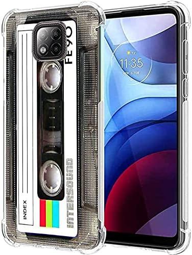 Cassette Tape Moto G Power 2021 Case, Cool Vintage 80s 90s Music Cassette Mixtape Retro Phone Case for Women Men Boys Girls Matte Finish Soft Slim Back Cover Bumper Protective TPU Cassette Tape Case