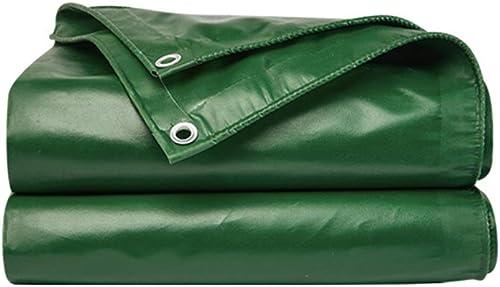 Poncho imperméable Vert, Tissu extérieur de canopée de bache Toile de bache épaissie Camion de Pluie Camion de prévention des inondations Tissu d'ombrage Anti-Pluie de Punch,5  4M