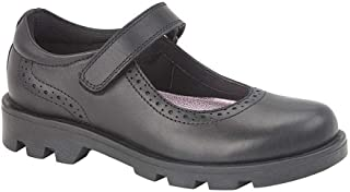 Roamers Girls Leather Touch Fastening Bar Shoe