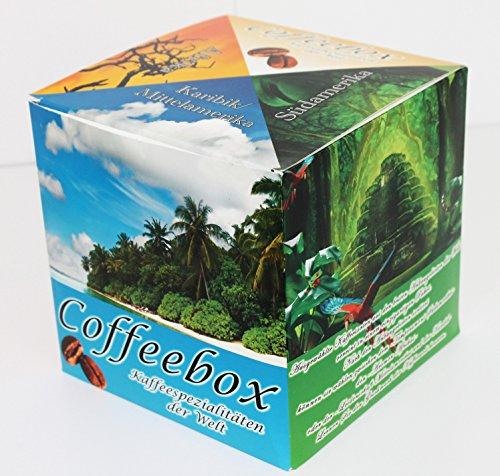"""Länder Kaffee Probierpaket """" Einmal um die Welt """" , Filterkaffee 3 Geschenkboxen Kaffee aus Südamerika Mittelamerika und Afrika"""