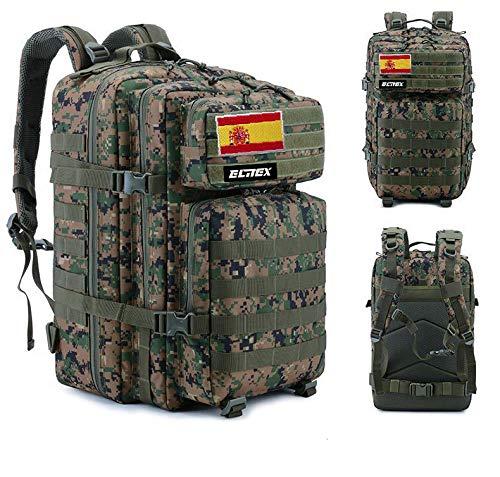 ELITEX Zaino tattico militare con bandiera spagnola, impermeabile, per crossfit, caccia, attività all'aria aperta, sport, palestra, portatile