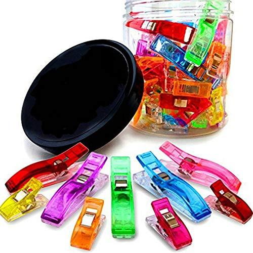 De múltiples fines 100 unids clips de llenado / herramientas de colcha / remiendo accesorio de costura de plástico clips de coser abrazaderas tela artesanía de coser herramientas para ganchillo ganchi