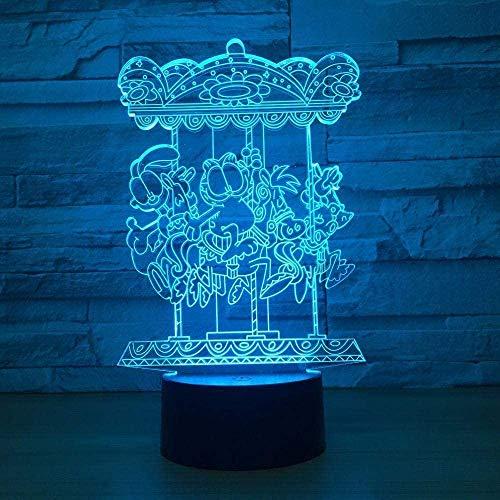 3D Illusie Lamprotating Koffie Kind Volwassen Vakantie Cadeau Decoratie Decoratie