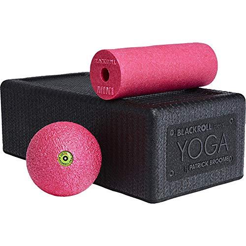 BLACKROLL Unisex– Erwachsene Yoga Schaumstoffrolle, SCHWARZ/PINK, OneSize