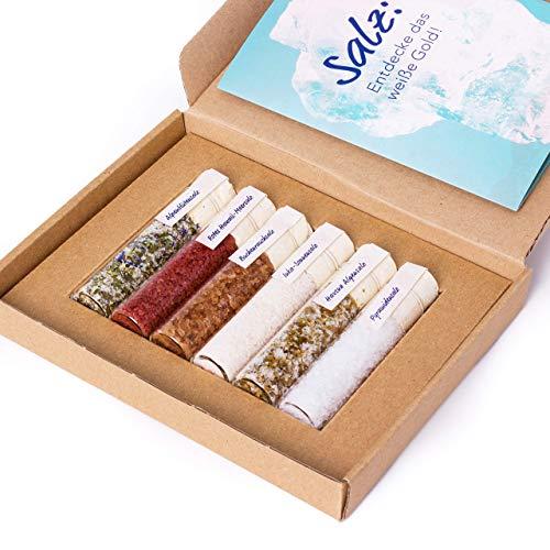 EXPLORE Salz | Probierset mit 6 verschiedenen Gourmet-Salzen | Für Gewürz-Liebhaber, Genießer, oder als Geschenk | DO YOUR GIN bekannt aus Sat1, Vogue, Spiegel
