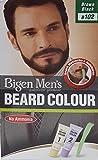 Bigen Men's Beard Colour - Tinte para barba (102), color marrón y negro