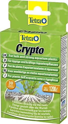 Tetra Crypto Düngetabletten (für üppige und gesunde Wurzelbildung der Wasserpflanzen im Aquarium), 30 Tabletten