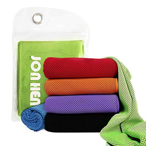 Jonhen Kühltuch,100 x 30 cm, Fitness Handtuch Stay Cool für Sport, Pilates, Reisen, Golf, Wandern …