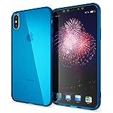 NALIA Funda Compatible con iPhone XS MAX, Ultra-Fina Protectora Movil Carcasa Transparente Silicona Gel Bumper Estuche Goma Cubierta Delgado Clear Smart-Phone Cover Flexible Case, Color:Azul
