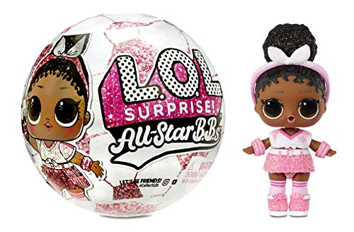 LOL Surprise Star BBs Sports Serie 3 - Equipo de Fútbol Brillante - Coleccionable - Con 8 Accesorios - Incluye Botella, Zapatos, Balón que se Transforma y Más