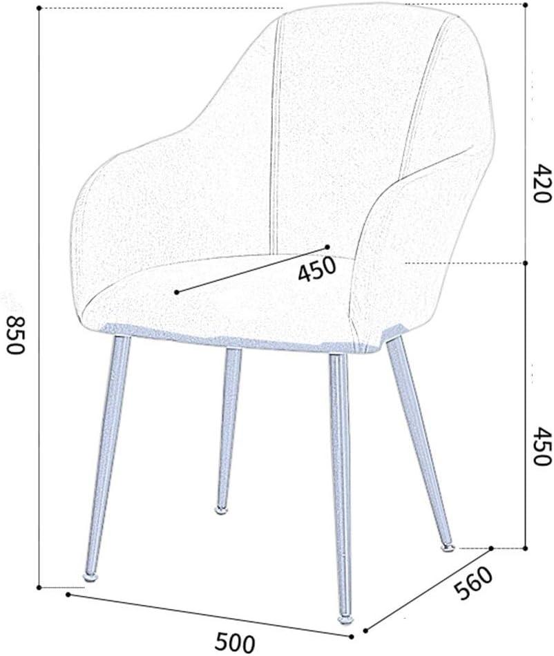 HEJINXL Flanelle Chaise Salle À Manger Tabouret De Maison Fauteuil Simplicité Moderne Fer Forgé Fauteuil Maquillage Chambre Bureau Chaise (Color : A) C