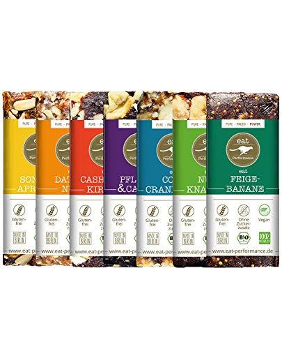 eat Performance® Variety Energie Riegel (7x 40g) - Bio, Paleo, Vegan, Glutenfrei, Ohne Zuckerzusatz, Aus 100% Natürlichen Zutaten