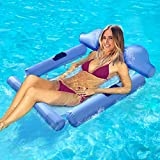 Coolwin Swimming Pool Float Hammock, 4-in-1 Multi-Purpose Pool Hammock, Ergonomic Design Inflatable Swimming Pool Lounger, Portable Water Hammock