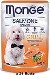 Monge Grill - Bolsas de salmón 24 sobres de 100 g.