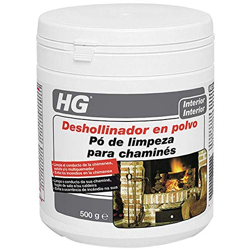 HG schoorsteenpoeder, 500 g, voor het verwijderen van roetresten uit de open haard