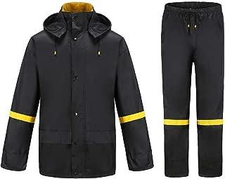 Ourcan Rain Suits for Men Fishing Rain Gear for Men Waterproof Lightweight Rain Coats for Men Waterproof with Hood and Pants