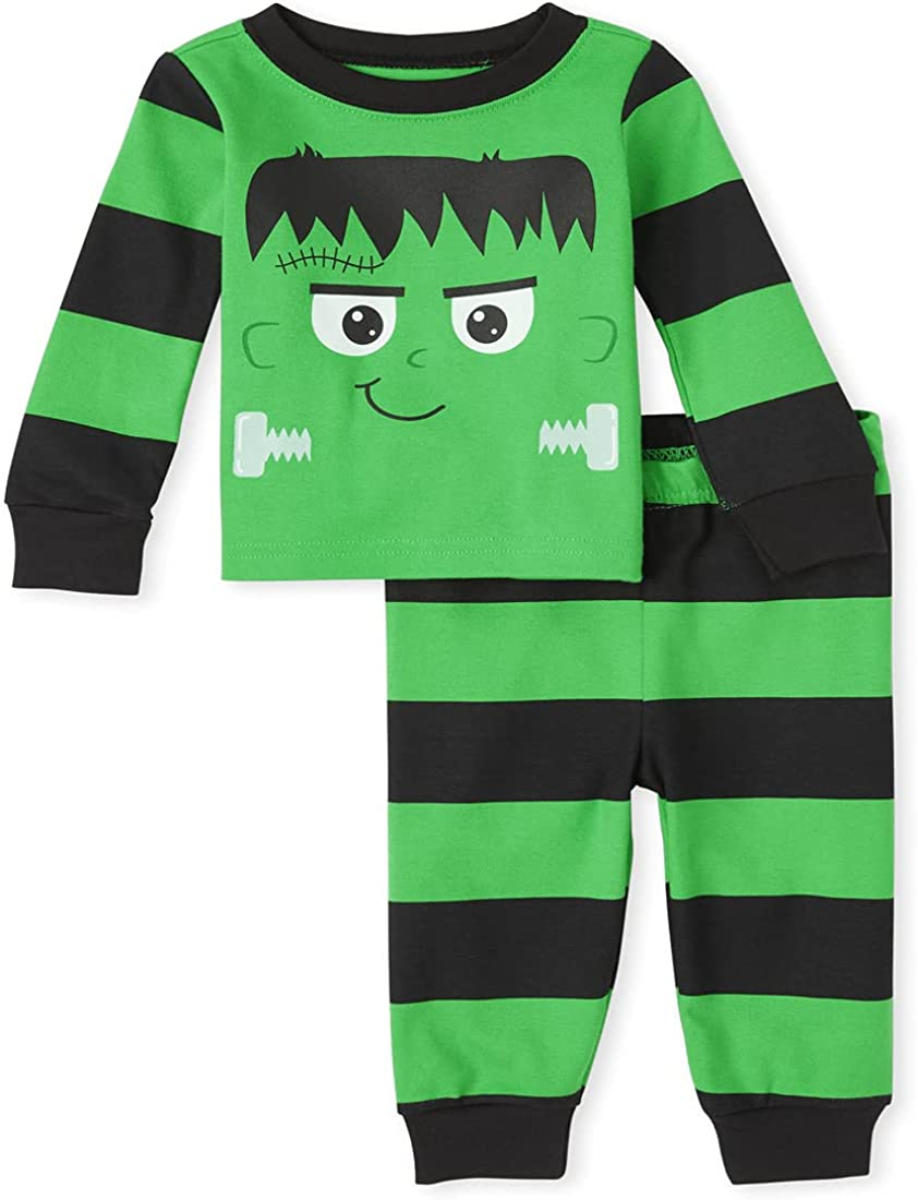 The Children's Place unisex-baby and Toddler Halloween 2 Piece Snug Fit Cotton Pajamas