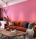 Vliestapete 3D Flock Wandtapete Einfarbig Fototapete Tapeten Wandbild Tapezier für Wohnzimmer-Schlafzimmer Fernsehhintergrund 10x0.53m 6089