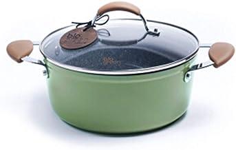 LJBH Maifan Stone Soup Pot, Soup Pot, Stew Pot, Non-stick Hot Pot, Cooking Pot, 24cm high quality (Color : Green, Size : 2...