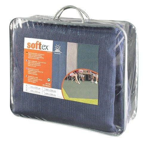 LI.GI STUOIA Softex Veranda Tappeto Pavimento Camper Caravan CARRELO Tenda Grammi CM 250X300 (Blu)