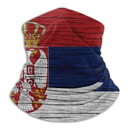 PQU Awesome Neck Gaiter Balaclavas,Hölzerne Textur Serbische Flagge Sturmhaube, Schnelles Trockenes Nackenschweißband Für Sportlauf,26x30cm