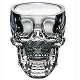 Verres à shot avec tête-de-mort de pirate, 3D, pour liqueur, boisson, cocktail, bière/Tete mort crane coupe crystal skull shot glass vodka verrerie verres whisky cognac