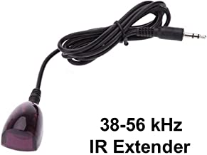 Inteset 38-56 kHz Wideband Infrared (IR) Receiver Extender Cable for Cable Boxes, DVR's & STB's. Check Compatibility.