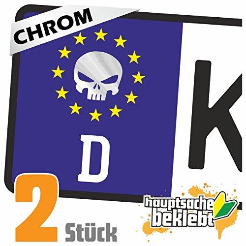 Kolben Skull Schädel Kennzeichen Aufkleber Sticker Nummernschild - IN 15 Farben