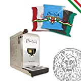 BOCCA DELLA VERITA - Cafetera LEONARDO + Café Italiano Bocca Della Verità - MIX EXÓTICO - 100 cápsulas cialdas - compatible ESE dm 44 mm